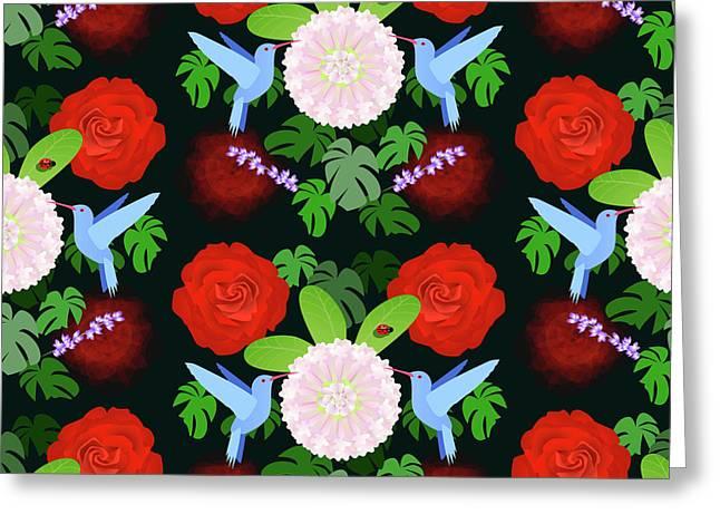 The Ladybird And The Hummingbird Greeting Card
