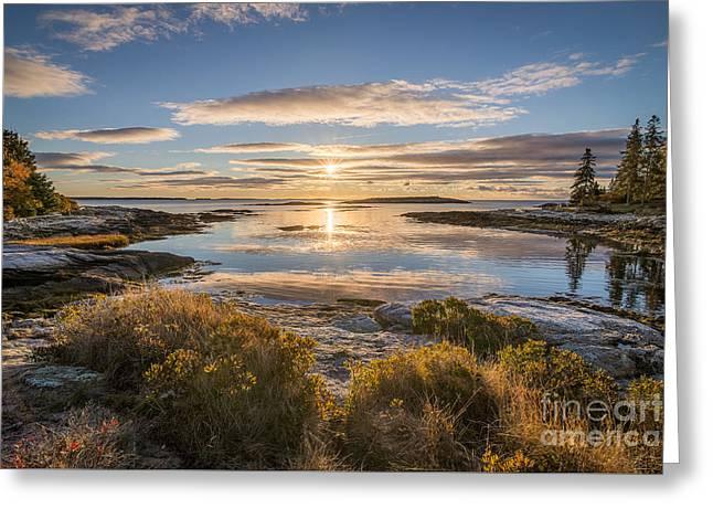 The Lagoon At Reid Greeting Card by Benjamin Williamson
