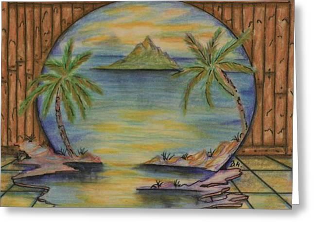 The Lagoon Greeting Card by Brian Hansen