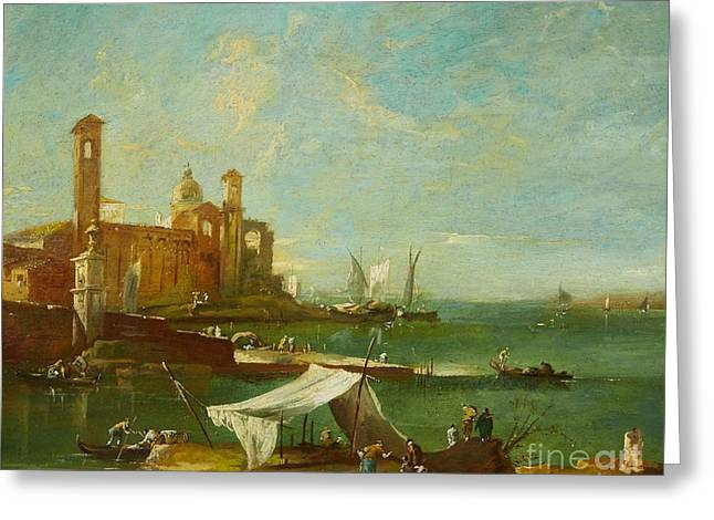 The Lagoon Of Venice Greeting Card by MotionAge Designs