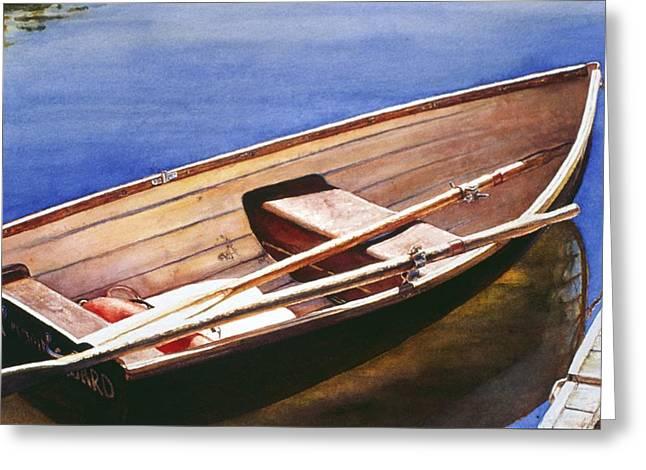 The Lake Boat Greeting Card