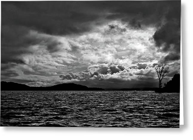 The Lake Greeting Card by John K Sampson