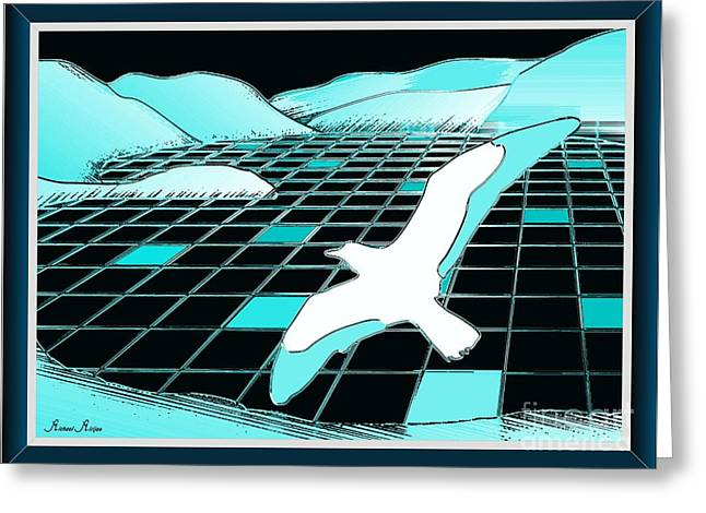 The Lake Of Turquoise Plates Greeting Card