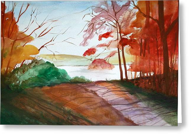 The Lake Road Greeting Card by Julie Lueders