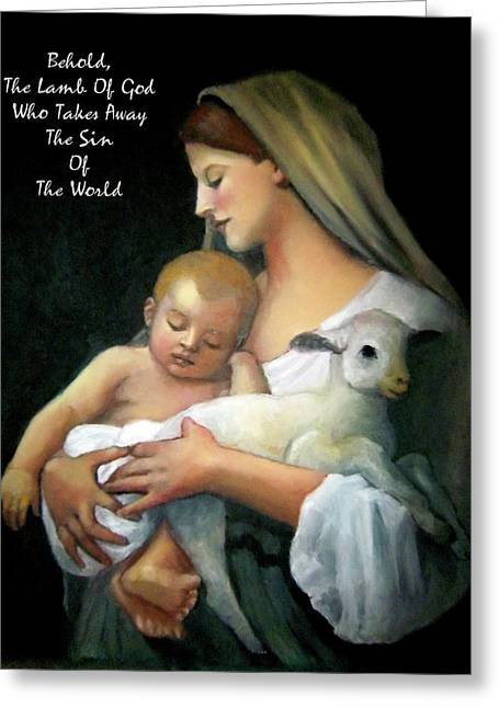 The Lamb Of God Greeting Card by Joyce Geleynse