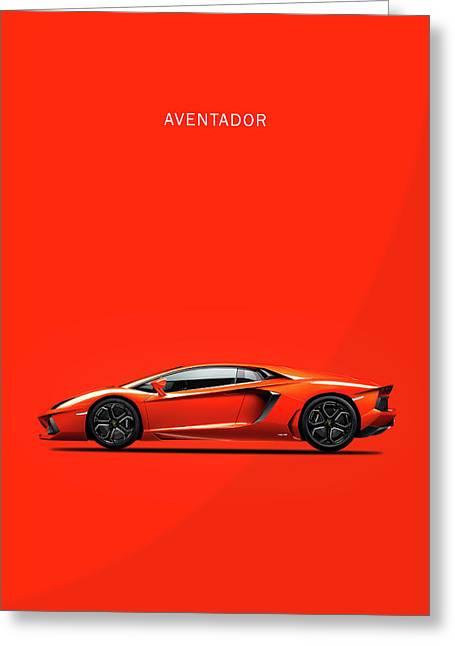 The Lamborghini Aventador Greeting Card