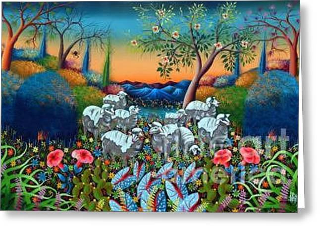 The Lambs Of God Greeting Card by Frantz Petion
