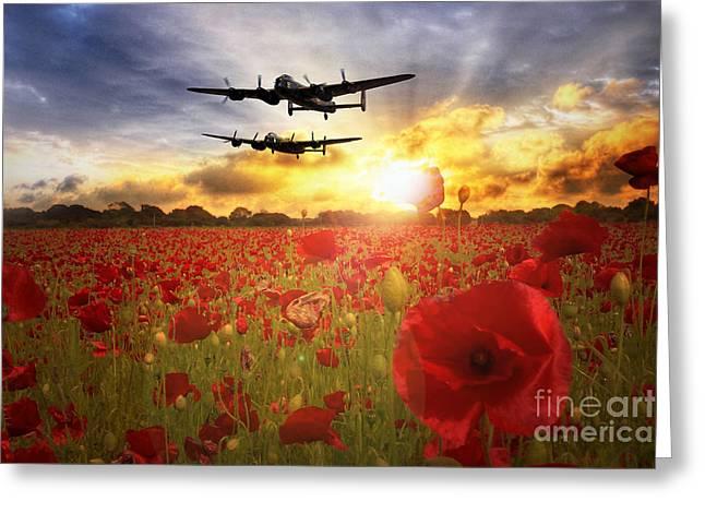 The Lancasters Greeting Card by J Biggadike