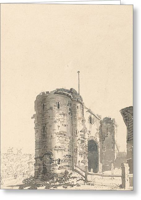 The Land Gate, Rye, Sussex Greeting Card by Thomas Girtin