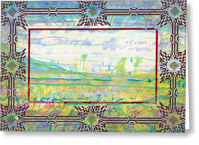 The Land Of The Dyamids Greeting Card by Tom Hefko