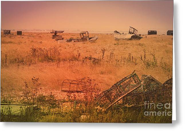 The Landscape Of Dungeness Beach, England 2 Greeting Card
