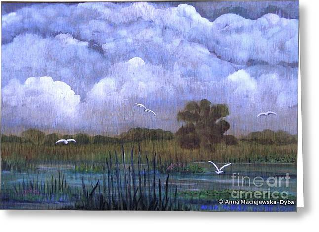 The Landscape With The Clouds Greeting Card