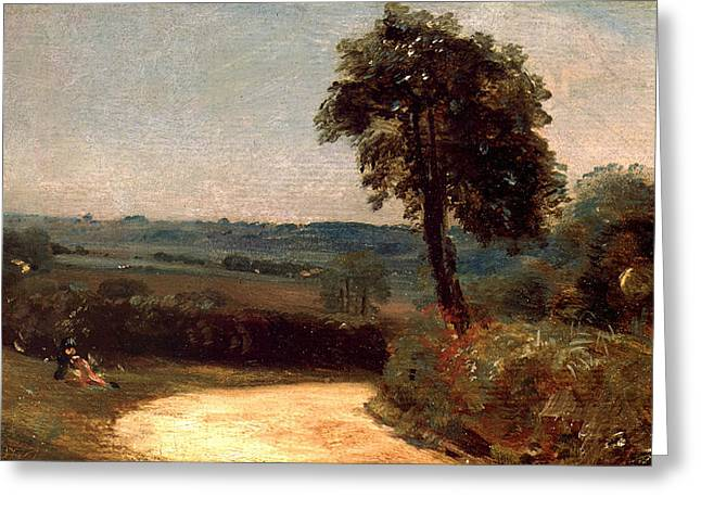 The Lane From East Bergholt To Flatford Greeting Card by John Constable