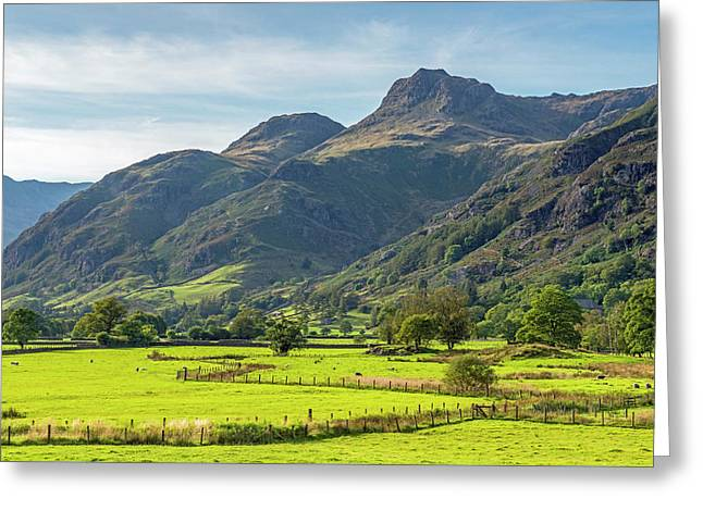 The Langdale Pikes Lake District Greeting Card
