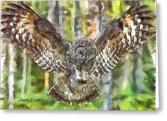 The Largest Owl - Da Greeting Card