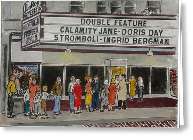 The Laroy Theater Portsmouth Ohio 1953 Greeting Card
