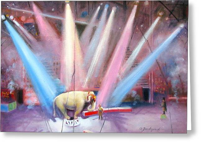 The Last Circus Elephant Greeting Card by Oz Freedgood