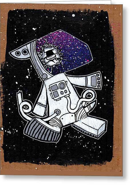 The Last Dog In Space Greeting Card by Bizarre Bunny