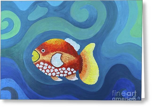 The Last Fish Greeting Card by Jutta Maria Pusl