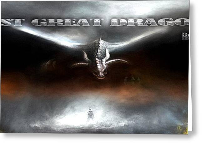 The Last Great Dragon War Greeting Card by Peter Chilelli