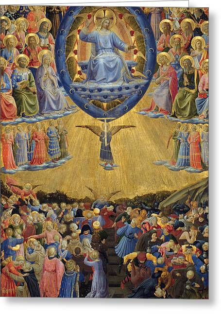 The Last Judgement, Central Panel Greeting Card