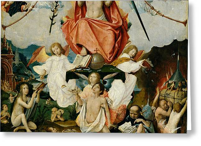 The Last Judgment Greeting Card by Jan Provost