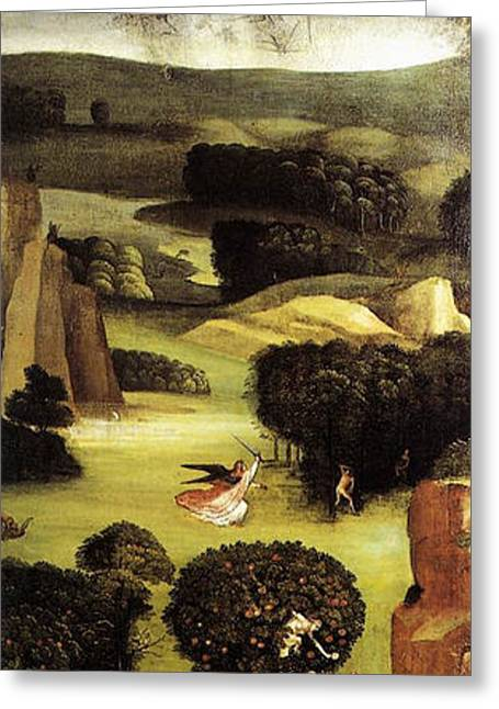 The Last Judgment, Left Wing, Paradise Greeting Card