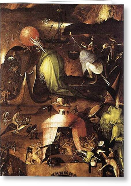 The Last Judgment, Right Wing, Hell Greeting Card