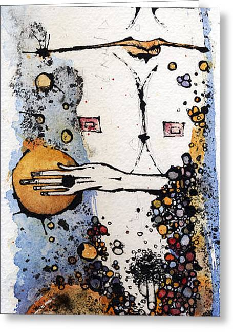 Figures Mixed Media Greeting Cards - The Last Living Organism Greeting Card by Mark M  Mellon