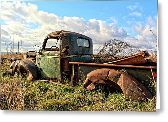 The Last Load Greeting Card by Bonfire Photography
