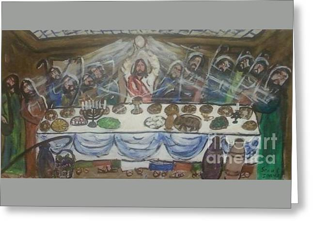 The Last Passover And The First Eucharist Greeting Card