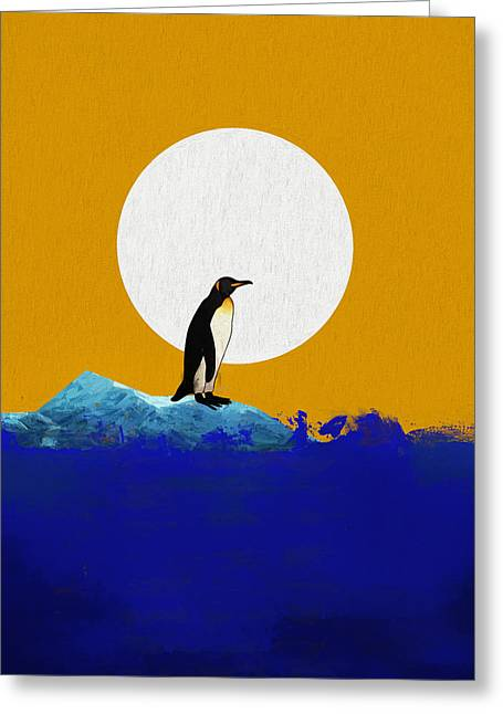 The Last Penguin Greeting Card by Dan Sproul