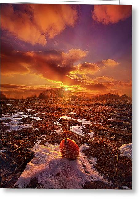 The Last Pumpkin Greeting Card by Phil Koch