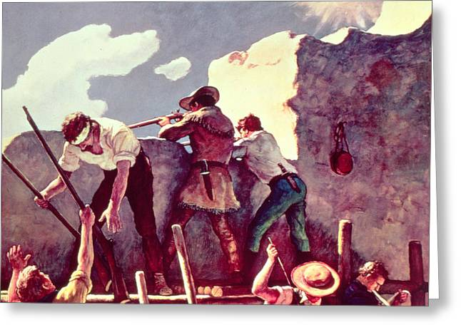The Last Stand At The Alamo Greeting Card
