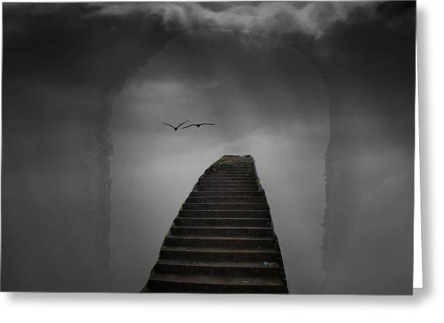 The Last Steps Greeting Card by Keith Elliott