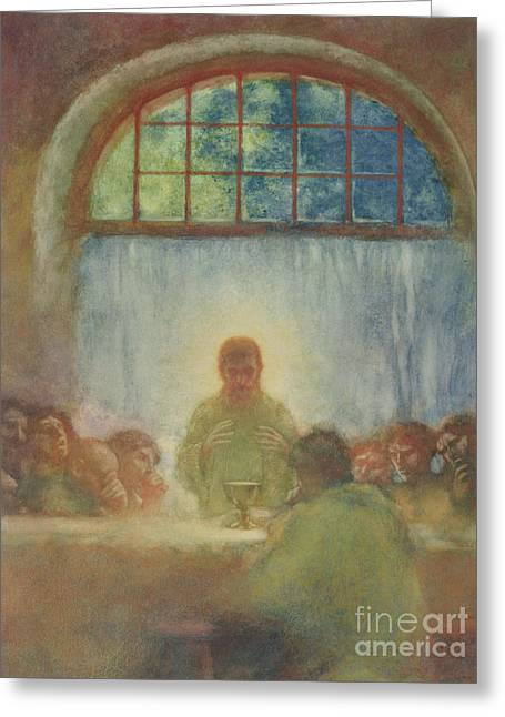 The Last Supper, 1897 Greeting Card by Gaston de La Touche