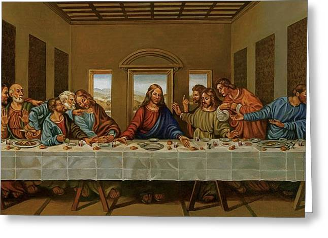 The Last Supper A Rendition Greeting Card