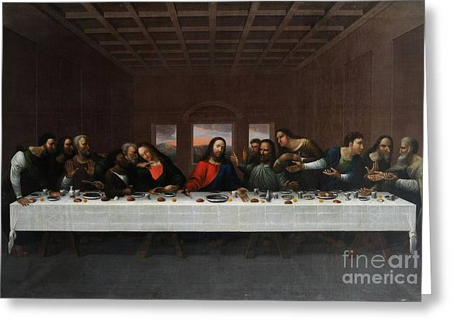 The Last Supper Greeting Card by MotionAge Designs
