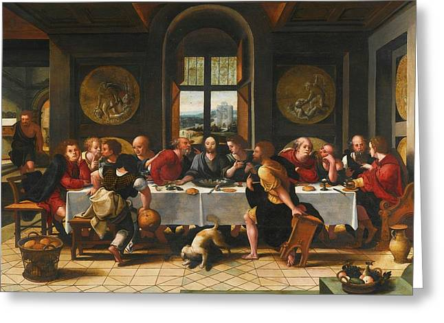 The Last Supper Greeting Card by Pieter Coecke