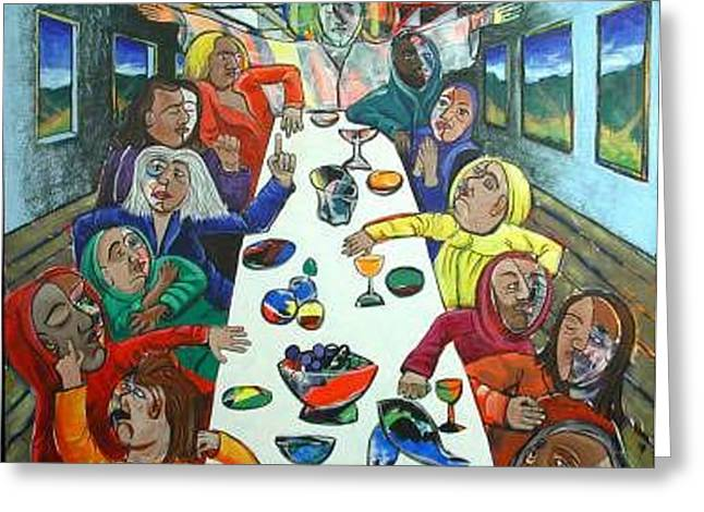 The Last Supper Greeting Card by Rollin Kocsis