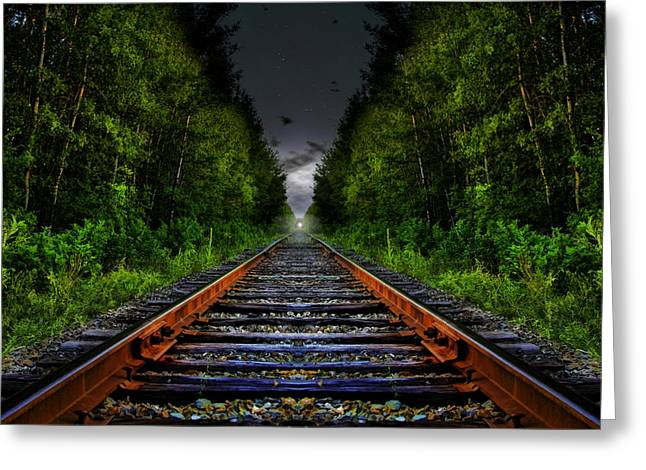 Greeting Card featuring the photograph The Last Train Ride by Gary Smith