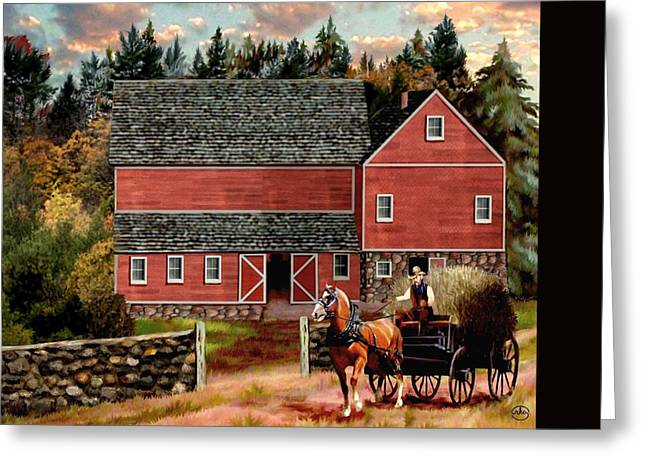 The Last Wagon 3 Greeting Card