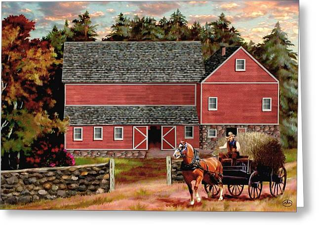 The Last Wagon Greeting Card by Ron Chambers