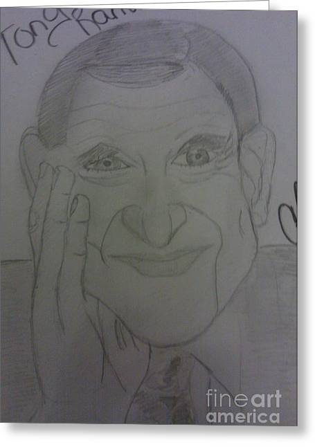 The Late Actor Tony Randall Greeting Card