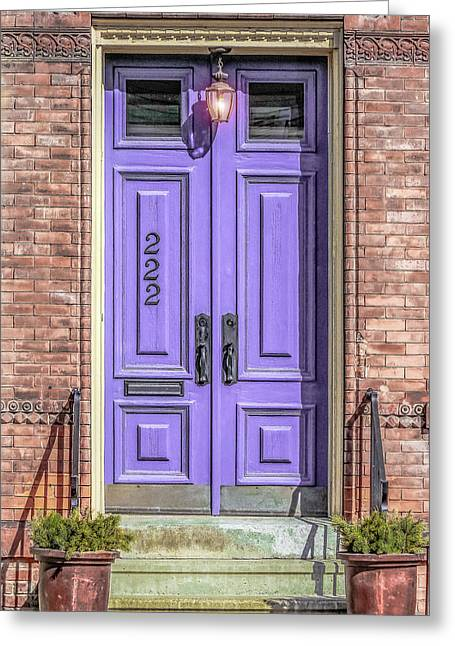 The Lavender Door Greeting Card by Jon Woodhams