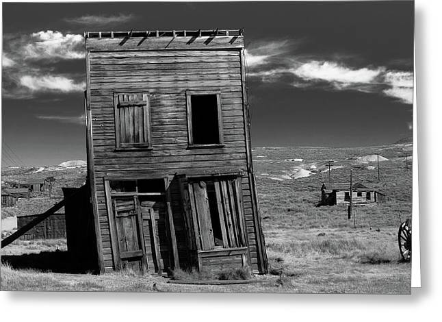 The Leaning Tower Of Bodie Greeting Card by Marius Sipa