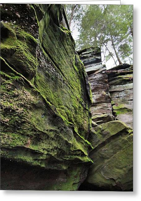 The Ledges In Cuyahoga Valley National Park Greeting Card by Dan Sproul