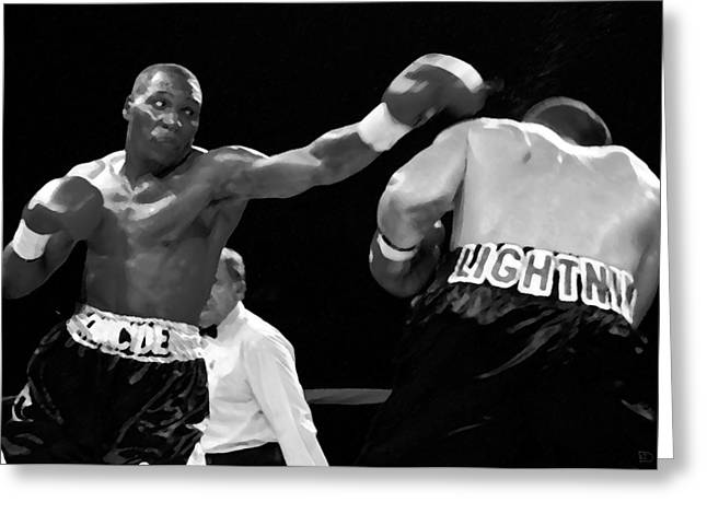 The Left Jab Greeting Card by David Lee Thompson