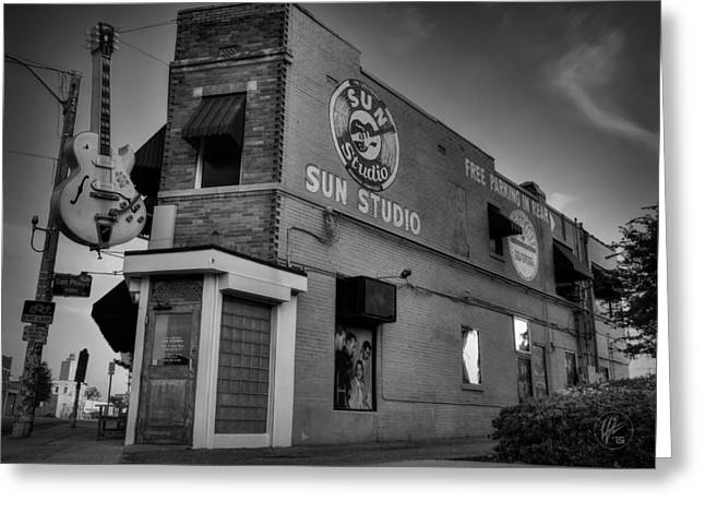 The Legendary Sun Studio 001 Bw Greeting Card by Lance Vaughn