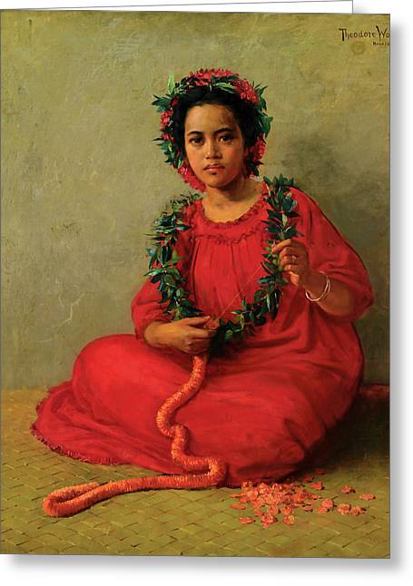 The Lei Maker Greeting Card
